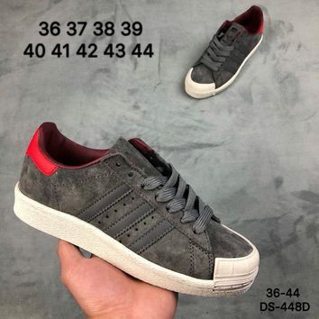 Adidas HALF SHELL 80s Men and Women Grey Fashion Outdoor Skate Shoes