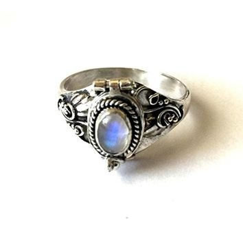 Womens .925 Sterling Silver Poison Ring