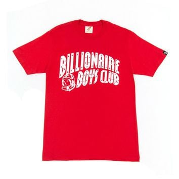 Billionaire Boys Club Classic Curve T-Shirt Red/White - Billionaire Boys Club
