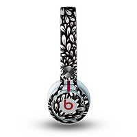 The Black Floral Sprout Skin for the Beats by Dre Mixr Headphones