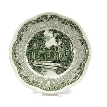 Dartmouth College Plate / Carpenter & Baker / Cauldon Lace / Green Transferware / Collectible Plate