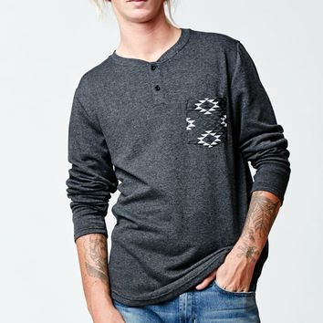 Volcom Tribal Pocket Long Sleeve Henley T-Shirt - Mens Shirt