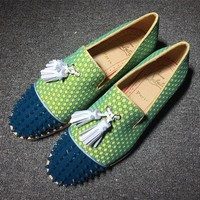 DCCK2 Cl Christian Louboutin Loafer Style #2402 Sneakers Fashion Shoes