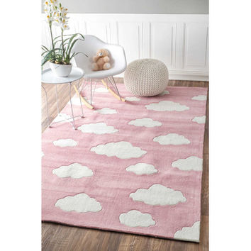Viv + Rae Lily Cloudy Sachiko Pink Area Rug & Reviews | Wayfair