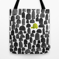 Turtle in Stone Garden Tote Bag by Budi Satria Kwan