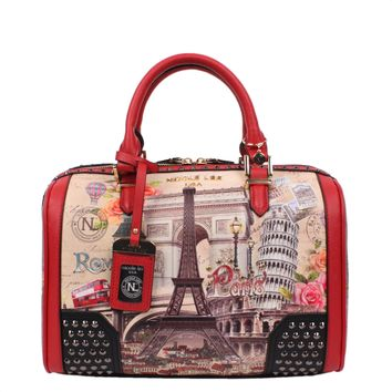 EUROPE PRINT SERIES ll BOSTON BAG - NEW ARRIVALS