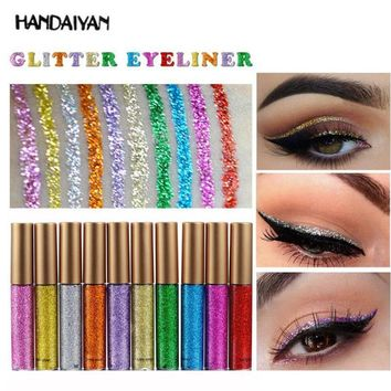 HANDAIYAN New Glitter Eyeliner Eyeshadow Waterproof Shimmer Diamond Liquid Eyeliner Beauty Silver Eye Liner Makeup Cosmetics YE2