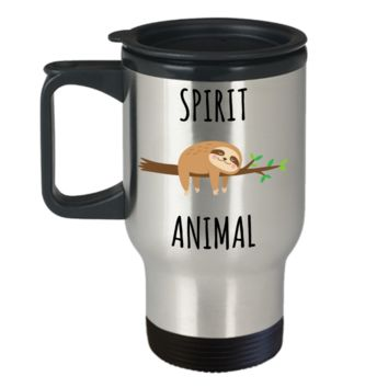 Sloth Mode Mug Spirit Animal Gifts Funny Sloths Stainless Steel Insulated Travel Coffee Cup