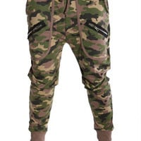 Camouflage Twin Zipper Streetwear Sweatpants at Threader® Streetwear, Hip Hop Clothing, and Urban Clothing