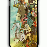 iPhone 6 Plus Case - Rubber (TPU) Cover with Studio ghibli mononoke spirited away all character Rubber Case Design