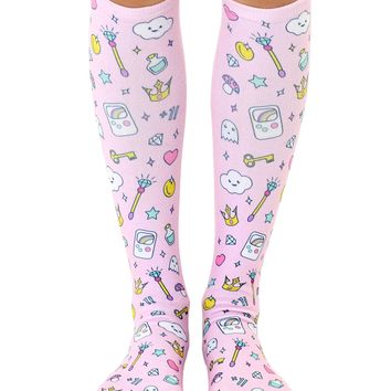 Girly Gamer Knee High Socks