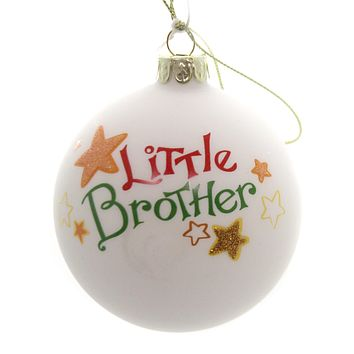 Holiday Ornaments LITTLE MIDDLE BIG SIBLING BALL Family Siblings C4890 Little Brother