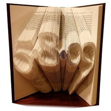 Anniversary Date - Folded Book Art - FREE SHIPPING - Paper Anniversary - Anniversary Gift - Wedding Gift - Wedding Decor - Gift for Love One