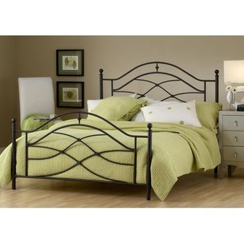 Hillsdale Cole Metal Poster Bed in Black Twinkle
