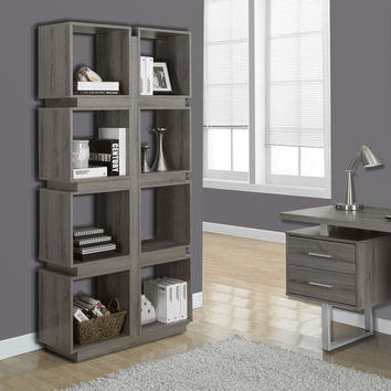 "Dark Taupe Reclaimed-Look 71""H Bookcase"