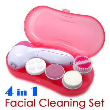 4 in 1 Facial Cleaning Tools Set Deeply Callus Remover Machine Electronic Massaging Multifunction Cleaners Face Clean for Beauty
