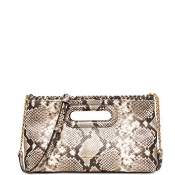 Michael Michael Kors Python Embossed Rosalie Large Clutch