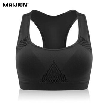 MAIJION Plus Size Women Stretch Breathable Yoga Sports Bra, Running Gym Padded Tops,Seamless Fitness Underwear Athletic Vest XXL
