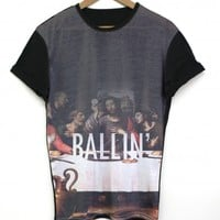 Ballin Black All Over T Shirt