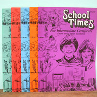 Vintage 1983-4 School Times Magazines for Teenagers