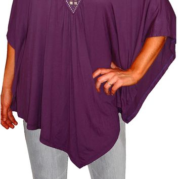 Funfash Plus Size Women Off Open Shoulders Blouse Tunic Top Shirt Made in USA
