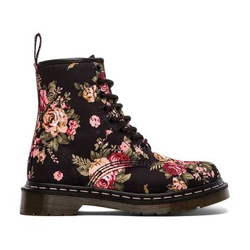 Dr. Martens Print 8 Eye Boot in Black