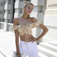 Elsa Ruffled Crop Top