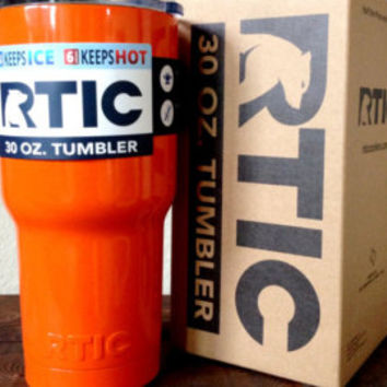 30 oz. RTIC Tumbler Custom Powder Coated Orange