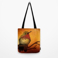 The Sunset Bird Tote Bag by Texnotropio