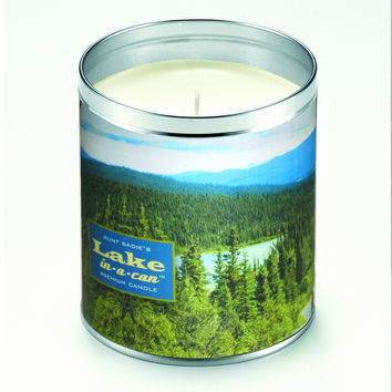Mountains Lake Candle