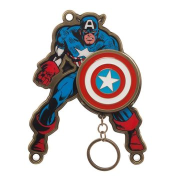 Captain America Keychain Marvel Key Holder Captain America Accessories - Marvel Keychain Captain America Gift