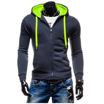 New Fashion Slim Fit Casual Autumn & Winter Zipper Hoodies Men Patchwork Color Men Hoody Jacket Sudaderas Hombre Assassins Creed
