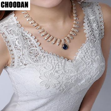 Tank top Women Fitness Elegant Flower Embroidery Lace Blouse Bohemian  New Fashion Summer Tube Top Sleeveless Shirt Clothing For Lady