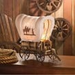 Western Covered Wagon Style Decorative Table Lamp
