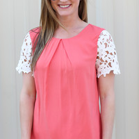 Now And Forever Blouse - Coral