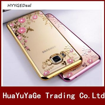 Phone cases Secret Garden Soft Case Slim Ultra thin flower Bling diamond Back cover for Samsung Galaxy S8 Plus Note8 Note 8 Case