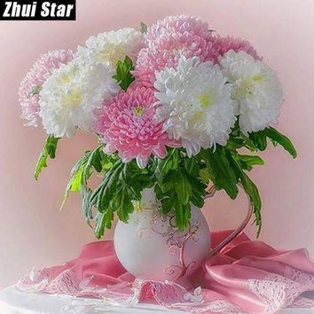 ac NOOW2 Full Square Diamond 5D DIY Diamond Painting 'vase' Embroidery Cross Stitch Rhinestone Mosaic Painting Decor
