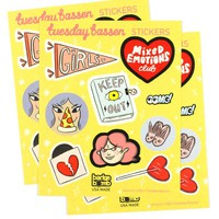 Tuesday Bassen Sticker Sheet (Pack of 3)