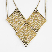 Diamond Lace Bib Necklace - Urban Outfitters
