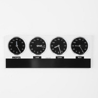 Urban Outfitters - Time Zone Wall Clock