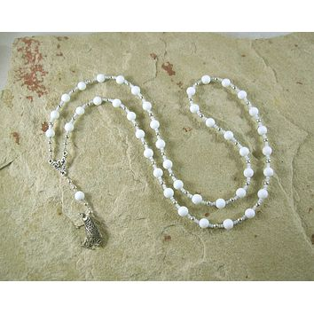 Nekhbet Prayer Bead Necklace in Alabaster: Egyptian Vulture Goddess, Patron and Protector of Upper Egypt