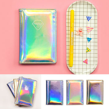 2017 Latest Hologram Laser Passport Holder Clip Credit Card Holder Women PU Leather Passport case  Portfolio Carteras Wallet