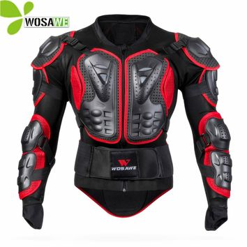 WOSAWE Protective Cycling Jacket Back Support Moto Racing Chest Protector MTB Bike Windbreaker Armor Man for Motorcycle Clothing