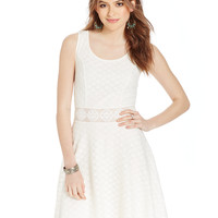 American Rag Lace Crochet-Panel Dress