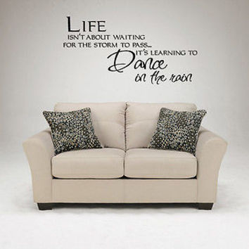 Learning to Dance in the Rain quote wall sticker quote decal wall art decor 4618