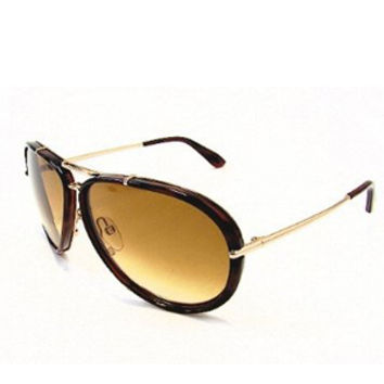 Tom Ford Cyrille Aviator Sunglass in Tortoise