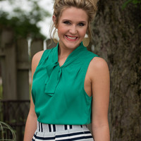 Bow Perfect Blouse - Green