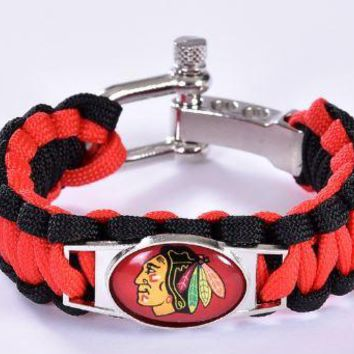 NHL - Chicago Blackhawks Custom Paracord Bracelet