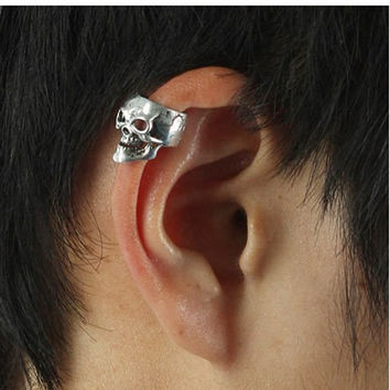 European And America Retro Brincos Punk Skull Bones Earrings Hot Selling Ear Cuff For Women And Men Earings