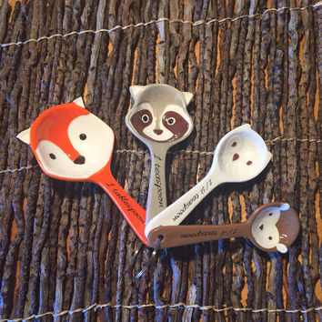 Ceramic Little Critters Measuring Spoon Set